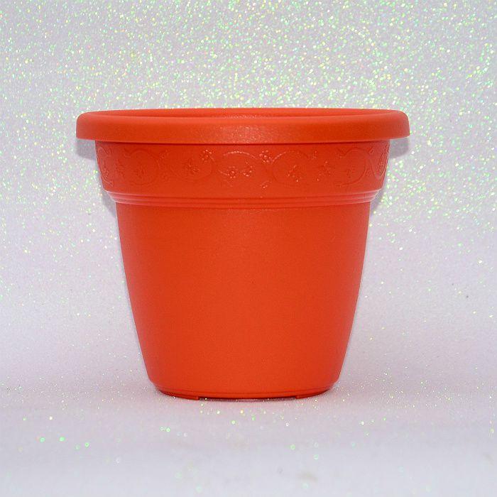 Vaso plastico - vicenza - laranja - 19 cm
