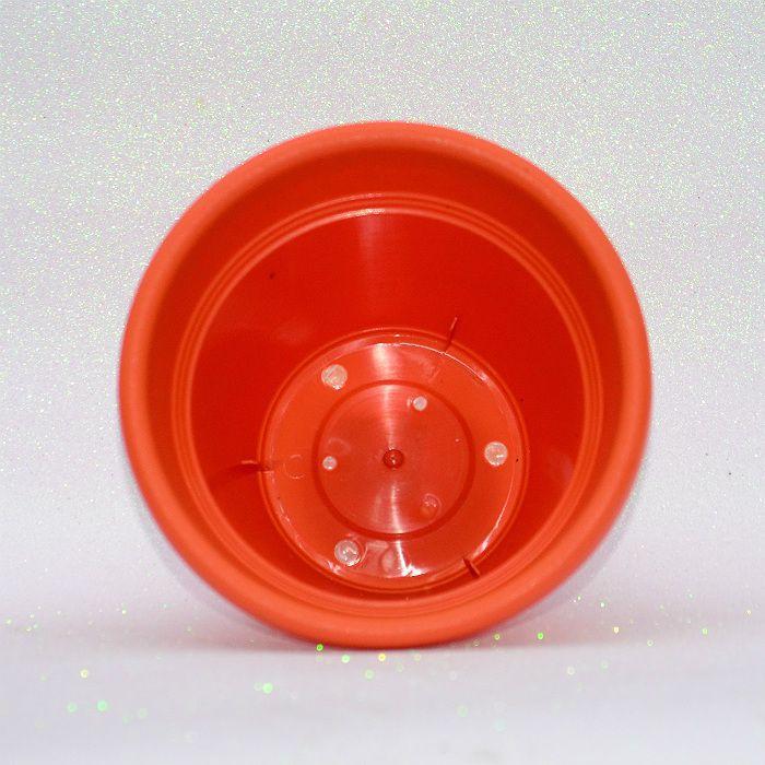 Vaso plastico - vicenza - laranja - 19 cm - kit 05 un