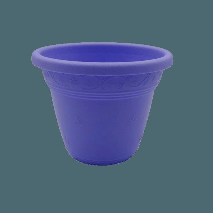 Vaso plástico - vicenza - lilas - 08 x 10 cm