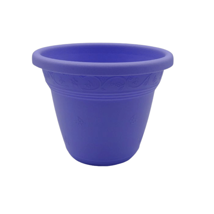 Vaso plástico - vicenza - lilas - 08 x 10 cm - kit 10 unid
