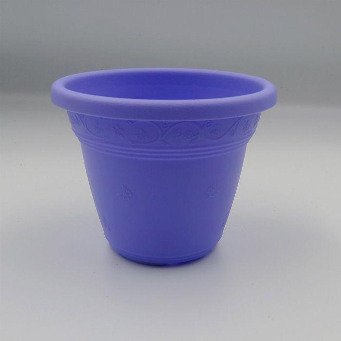 Vaso plástico - vicenza - lilas - 10 cm