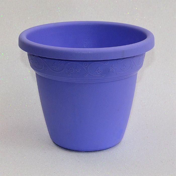 Vaso plastico - vicenza - lilas - 19 cm