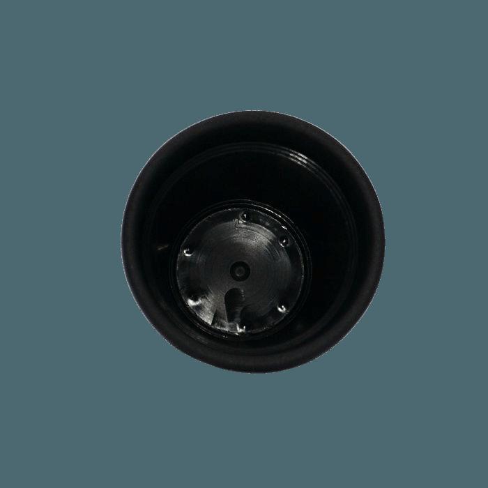 Vaso plástico - vicenza - preto - 08 x 10 cm