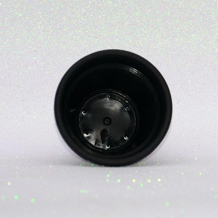 Vaso plástico - vicenza - preto - 10 cm