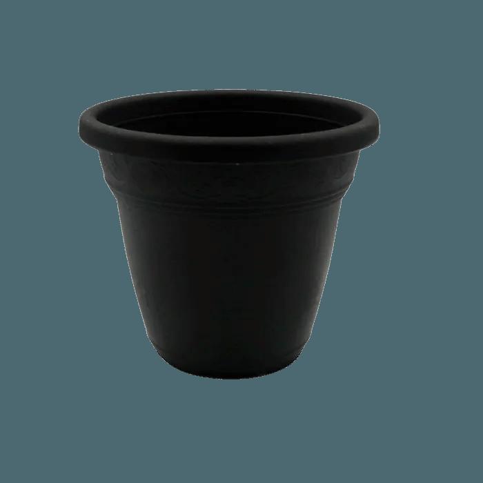 Vaso plastico - vicenza - preto - 16 x 19 cm - kit 06 unid