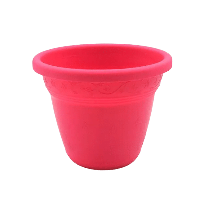 Vaso plástico - vicenza - rosa - 08 x 10 cm - kit 10 unid
