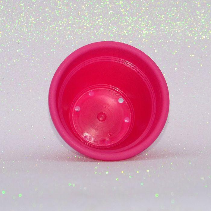 Vaso plástico - vicenza - rosa - 10 cm - kit 10 un
