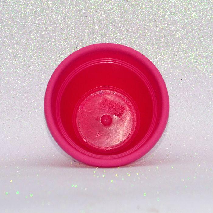 Vaso plástico - vicenza - rosa - 13 cm - kit 10 un