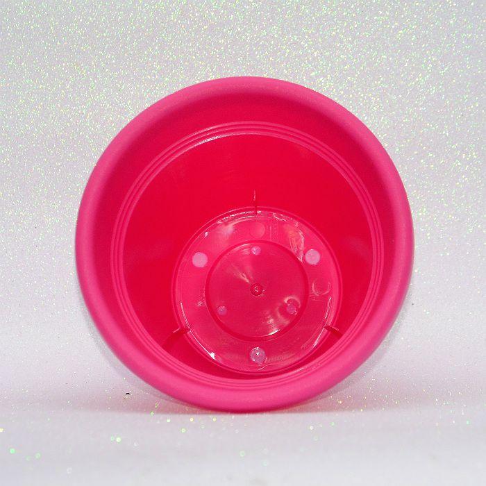 Vaso plastico - vicenza - rosa - 16 x 19 cm - kit 03 unid