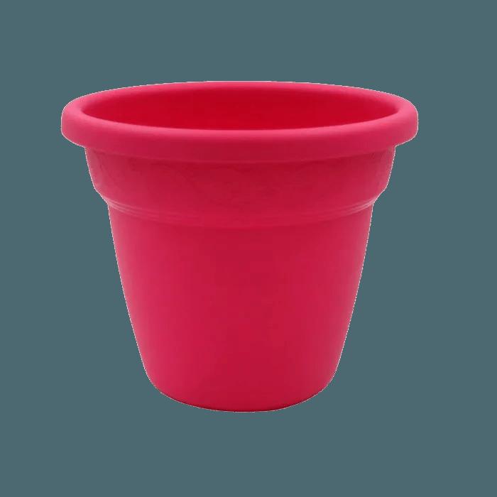 Vaso plastico - vicenza - rosa - 16 x 19 cm - kit 12 unid
