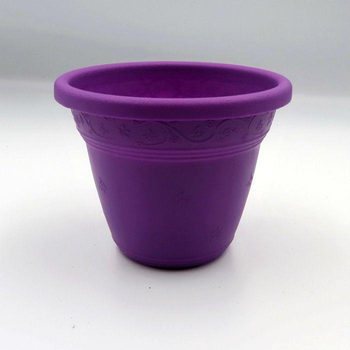 Vaso plástico - vicenza - roxo - 10 cm