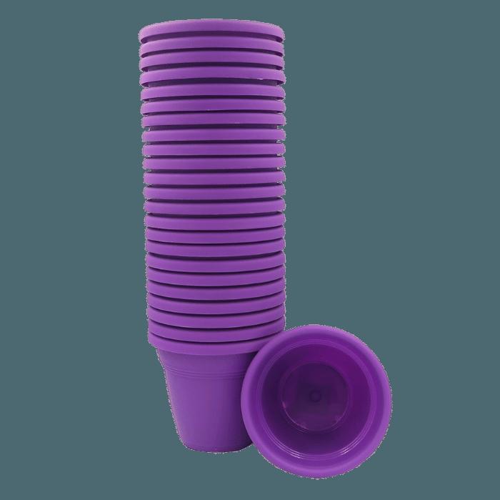 Vaso plastico - vicenza - roxo - 10 x 13 cm - kit 24 unid
