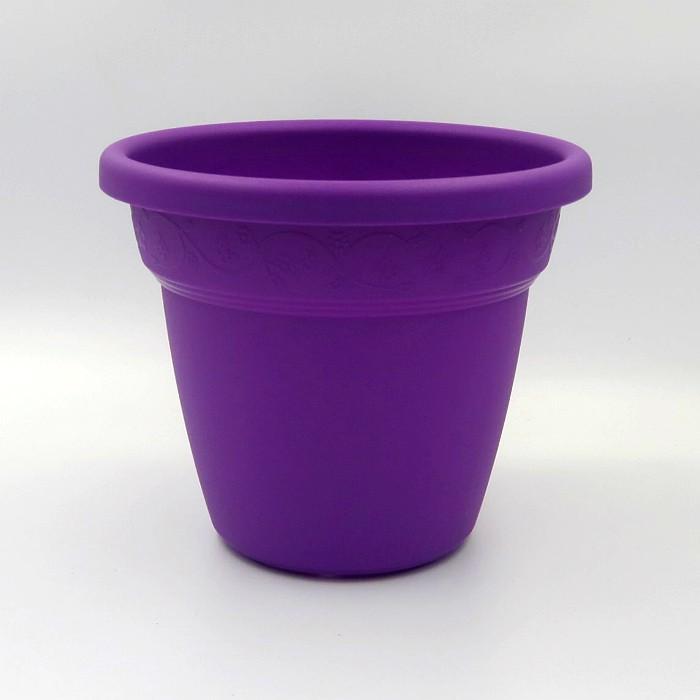 Vaso plastico - vicenza - roxo - 16 x 19 cm