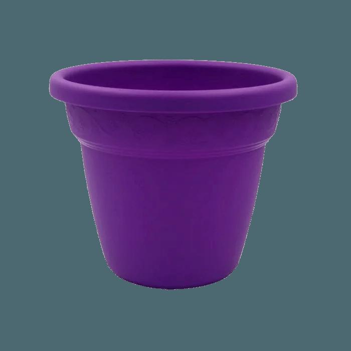 Vaso plastico - vicenza - roxo - 16 x 19 cm - kit 03 unid