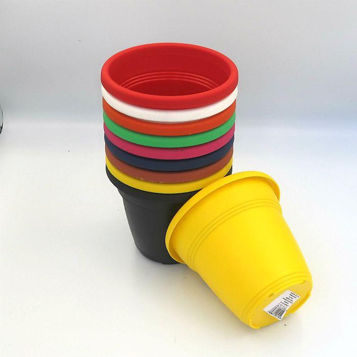 Vaso plástico - vicenza - sortido - 13 cm - Kit 10 un