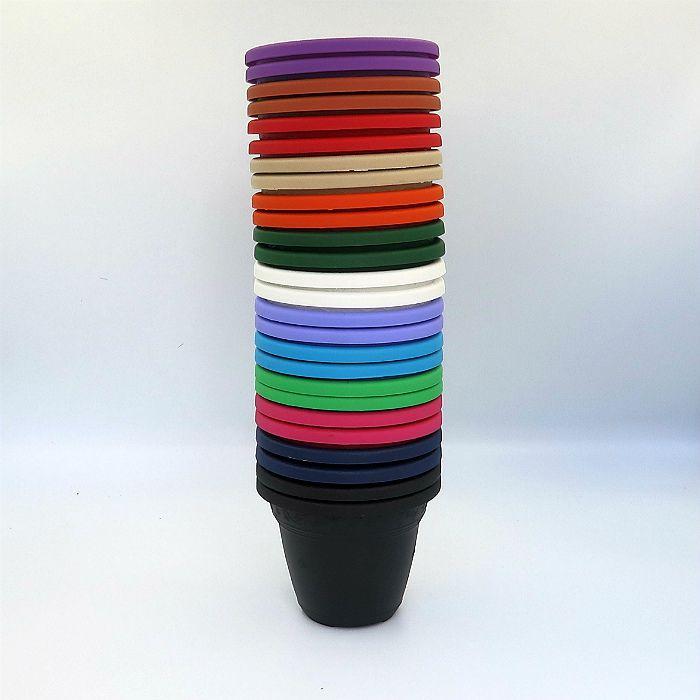 Vaso plástico - vicenza - coloridos - 10 cm - kit 30 unid