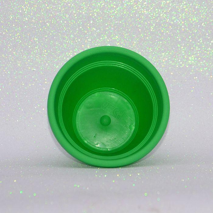 Vaso plástico - vicenza - verde claro - 13 cm - kit 10 un
