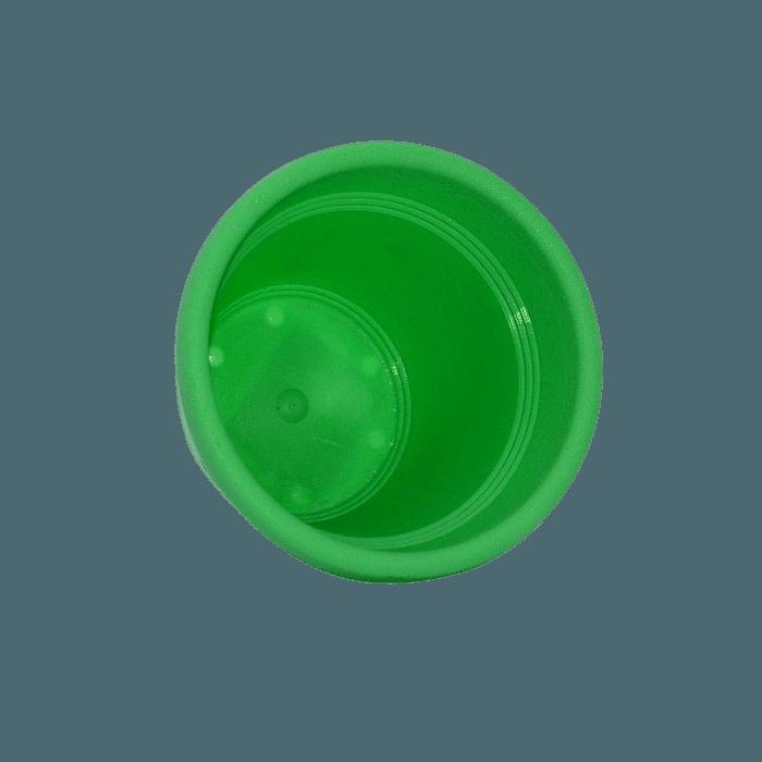 Vaso plástico - vicenza - verde claro - 08 x 10 cm - kit 24 unid