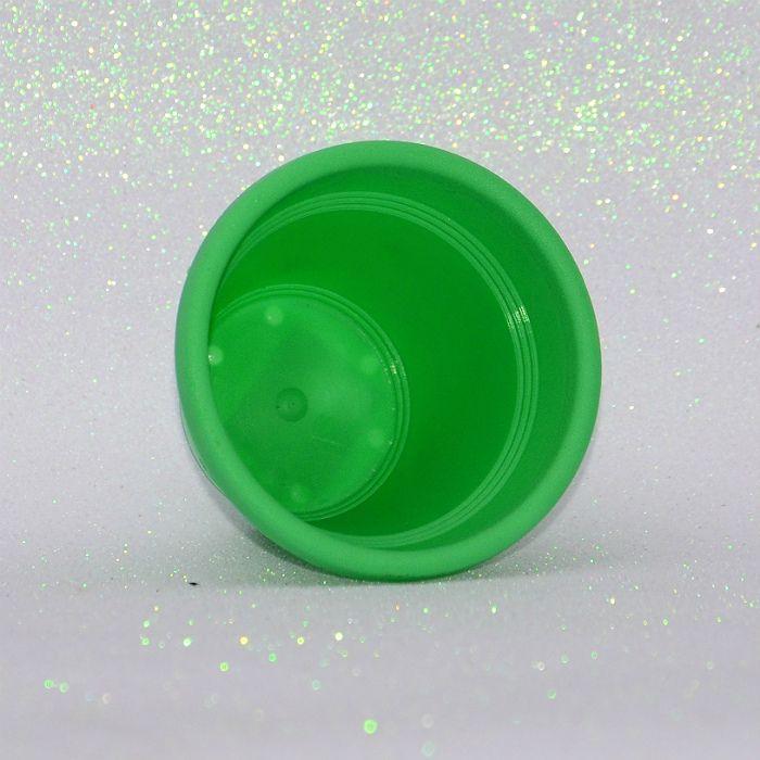 Vaso plástico - vicenza - verde claro - 10 cm