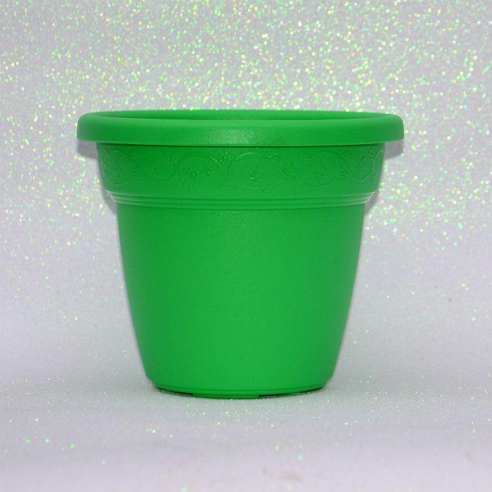 Vaso plastico - vicenza - verde claro - 19 cm