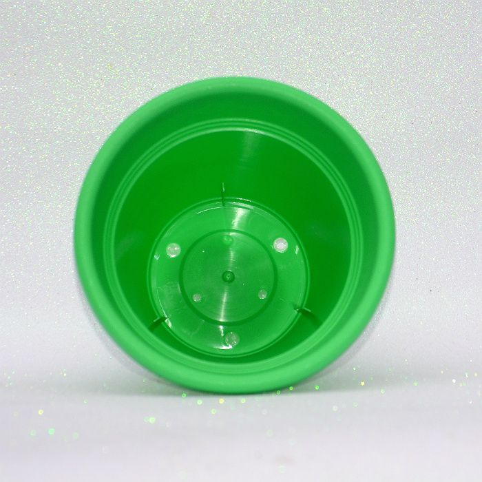 Vaso plastico - vicenza - verde claro - 19 cm - kit 05 un