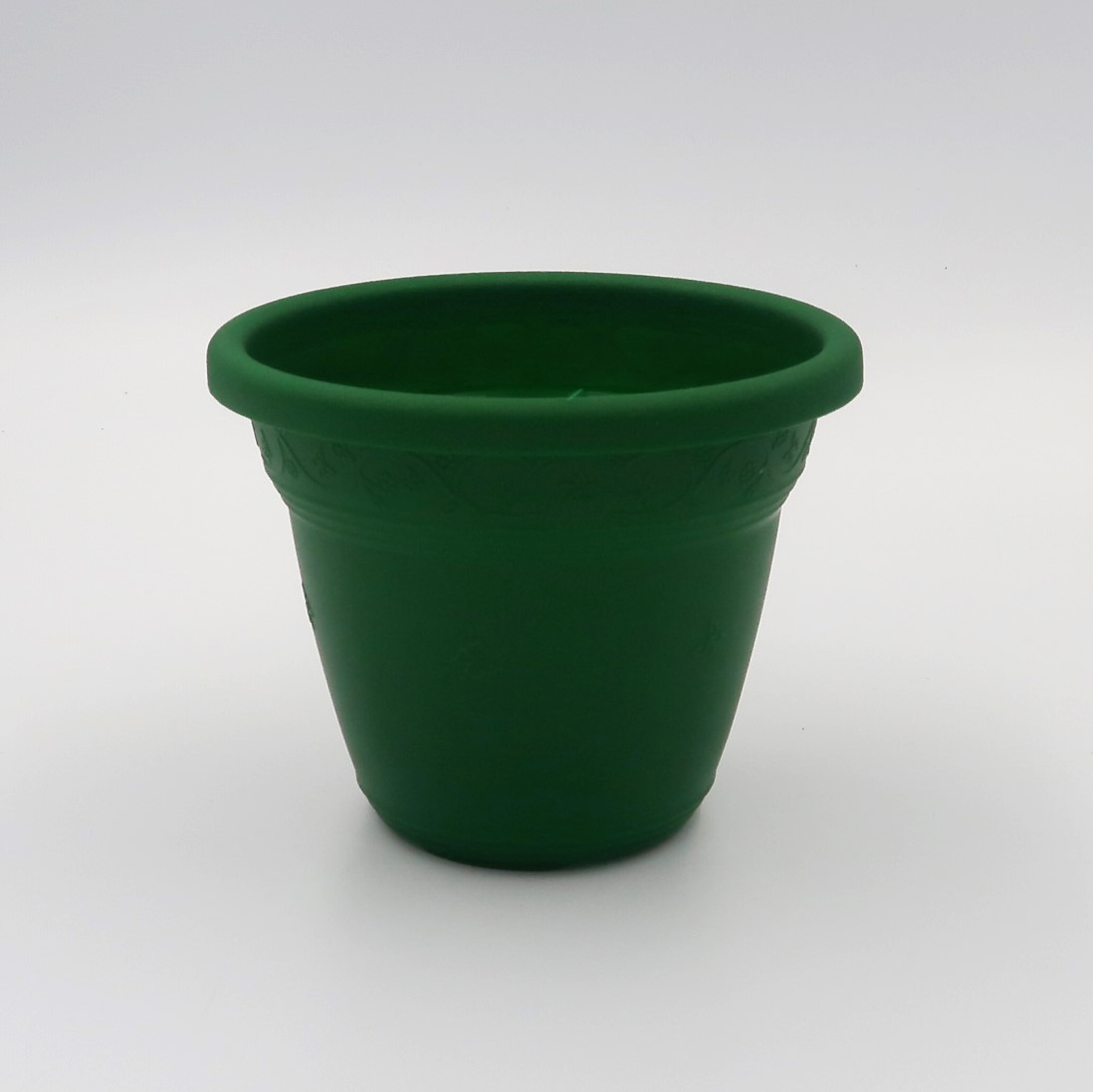 Vaso plástico - vicenza - verde escuro - 08 x 10 cm