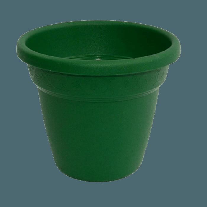 Vaso plastico - vicenza - verde escuro - 16 x 19 cm