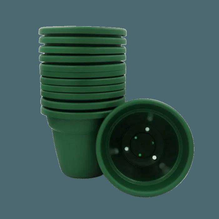 Vaso plastico - vicenza - verde escuro - 16 x 19 cm - kit 12 unid