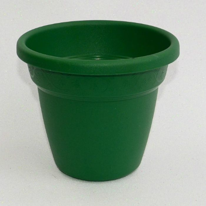 Vaso plastico - vicenza - verde escuro - 19 cm