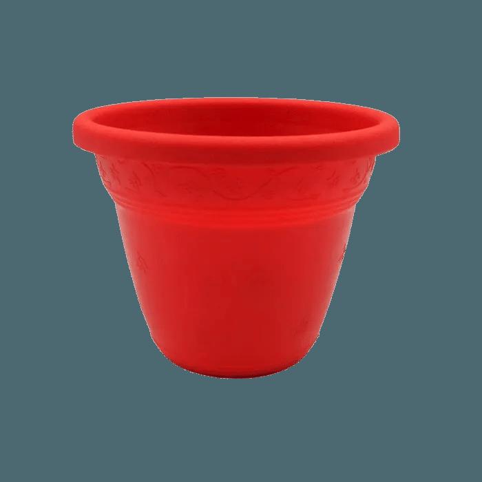 Vaso plastico - vicenza - vermelho - 10 x 13 cm - kit 24 unid