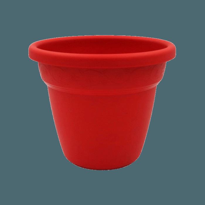 Vaso plastico - vicenza - vermelho - 16 x 19 cm