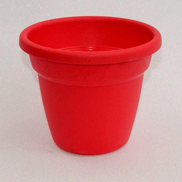 Vaso plastico - vicenza - vermelho - 19 cm