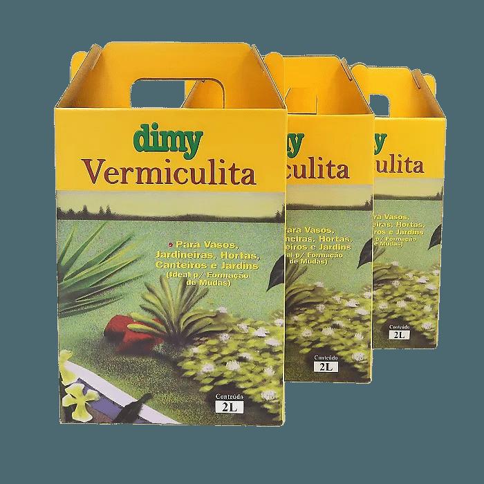 Vermiculita - Dimy - kit 3 embalagens 2 litros