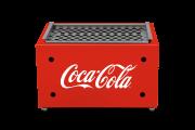 Churrasqueira A Carvão Portátil Coca-Cola