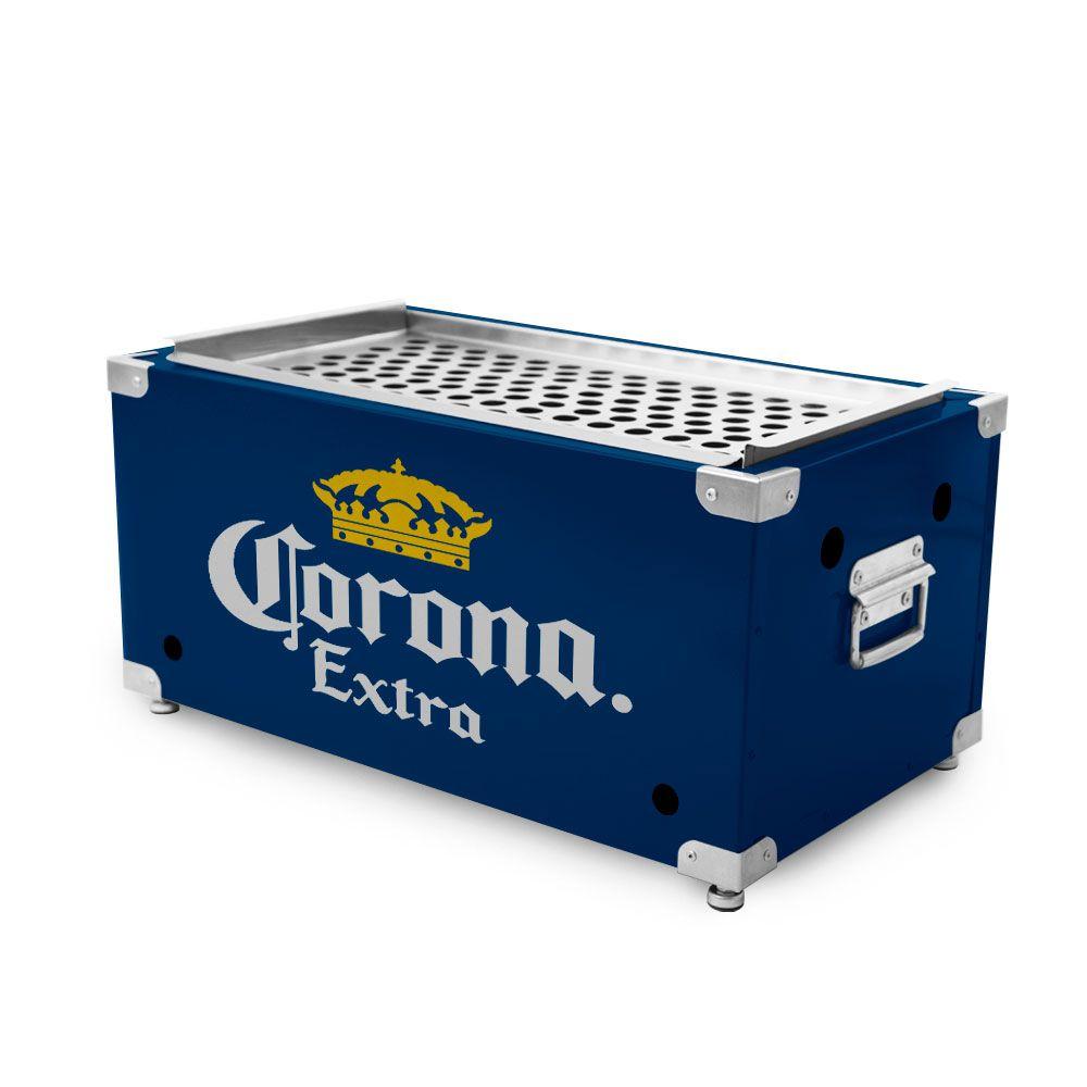 Churrasqueira Portátil de Inox a Carvão - Corona