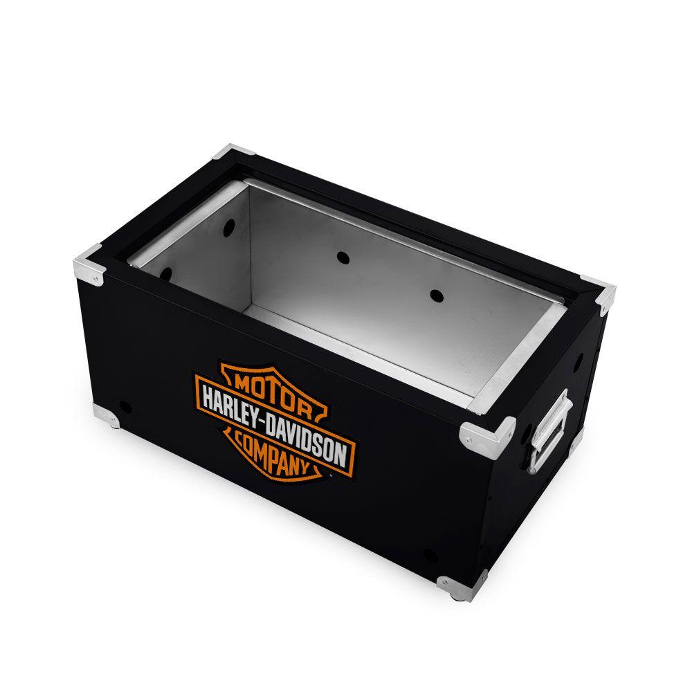 Churrasqueira Portátil de Inox a Carvão - Harley Davidson