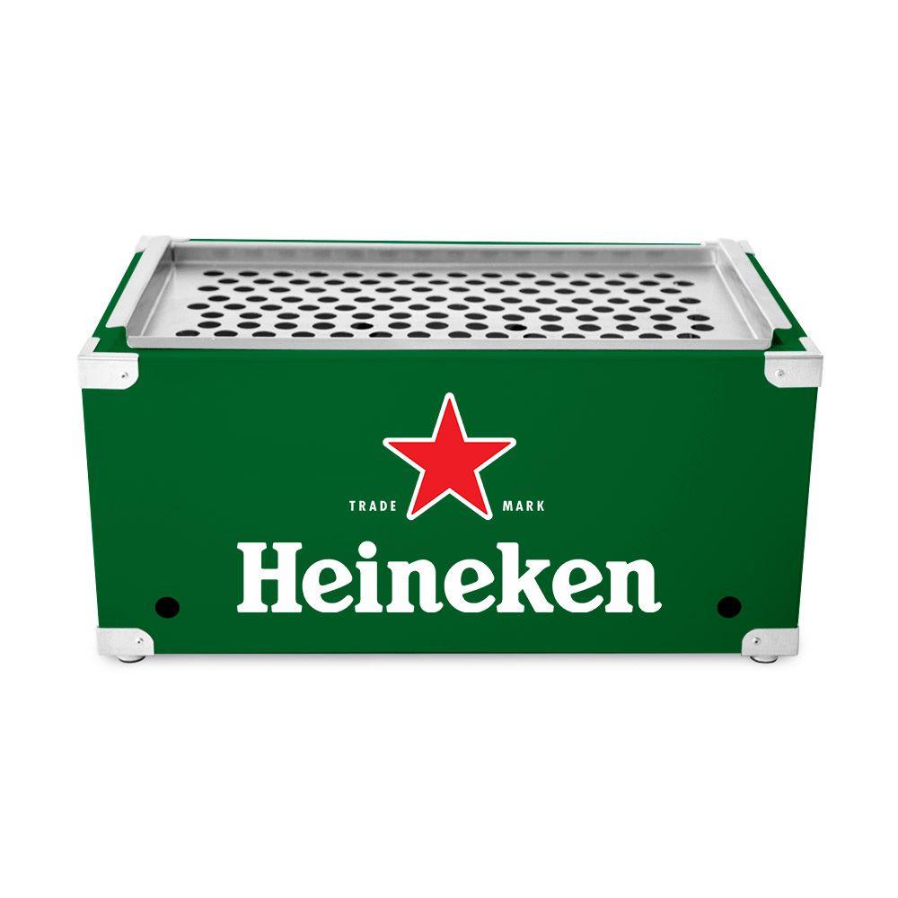 Churrasqueira Portátil de Inox a Carvão - Heineken