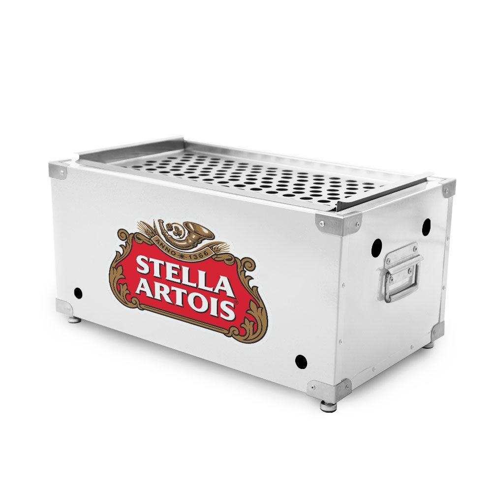Churrasqueira Portátil de Inox a Carvão - Stella Artois