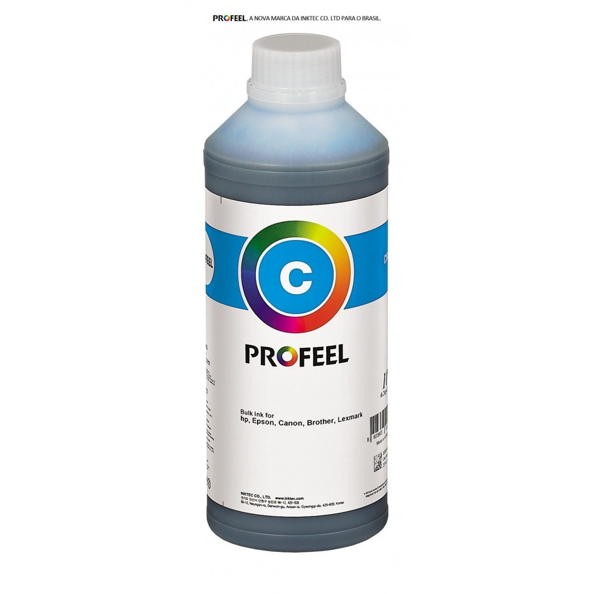 Tinta corante InkTec Profeel modelo H1061-01LC | Frasco de 1 litro | Cor : Ciano