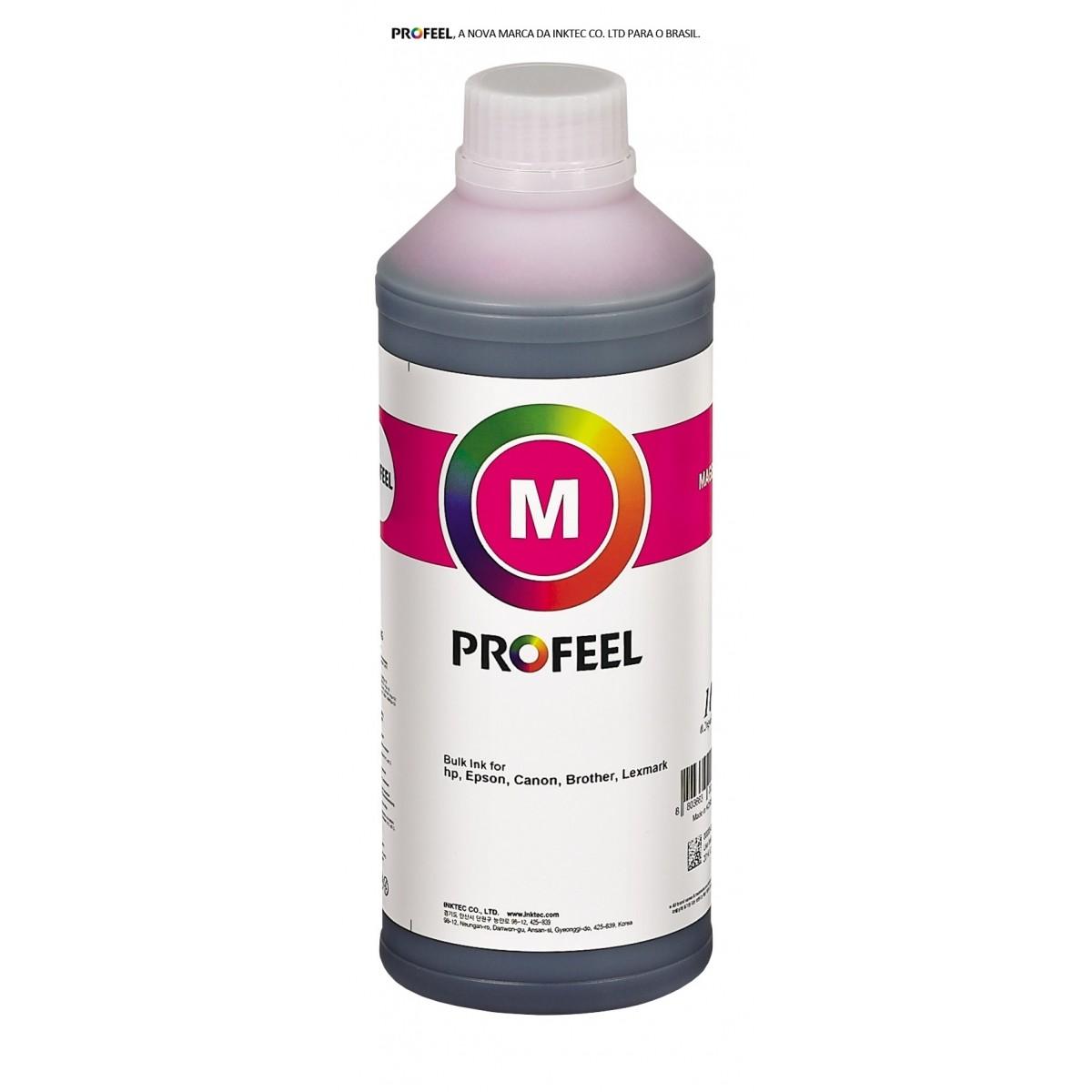 Tinta corante InkTec Profeel para Brother | modelo B1100-01LM | Frasco de 1 litro | Cor : Magenta