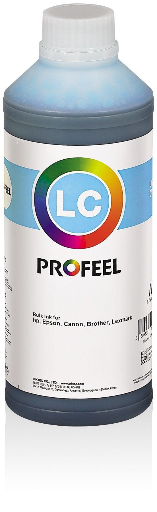 Tinta corante InkTec Profeel para Epson | modelo EU1000-01LLC | Frasco de 1 litro | Cor : Ciano claro