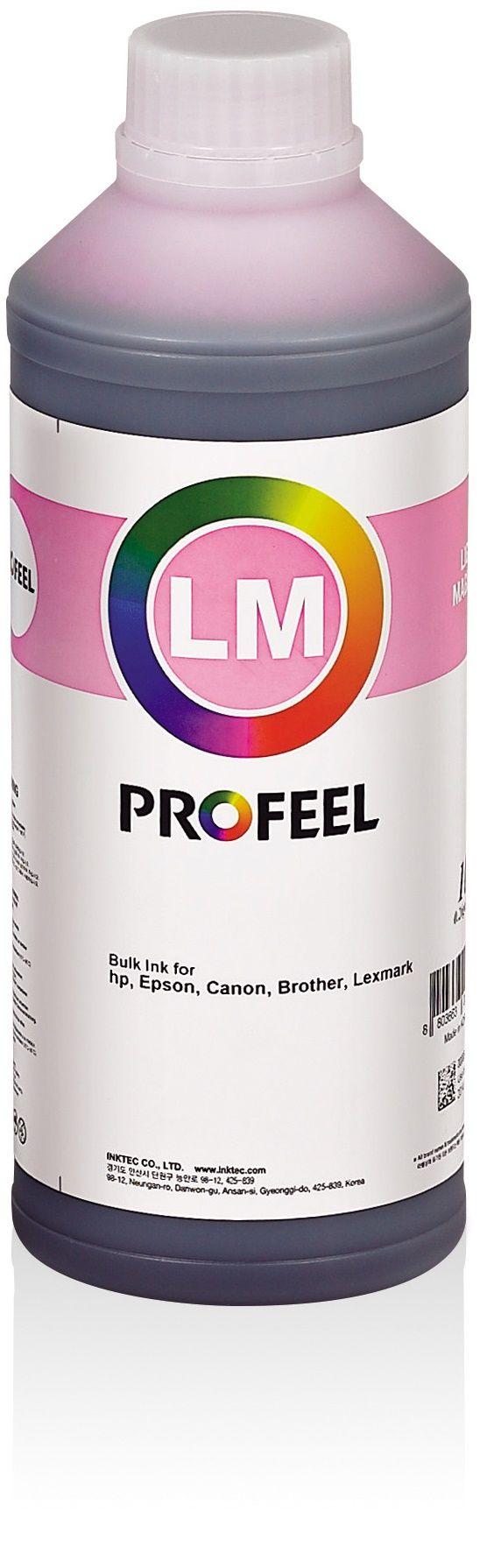 Tinta corante InkTec Profeel para Epson | modelo EU1000-01LLM | Frasco de 1 litro | Cor : Magenta claro