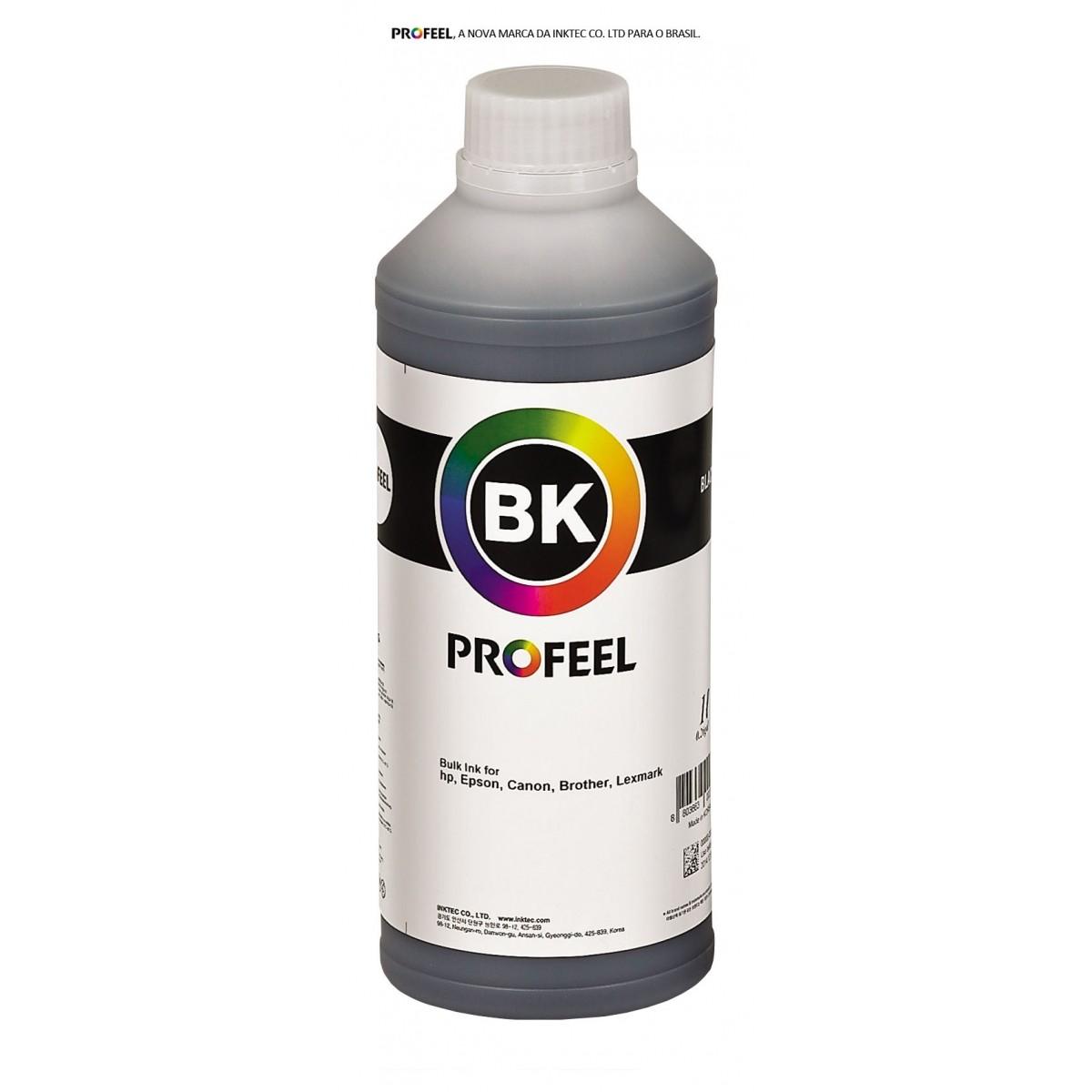 Tinta pigmentada InkTec Profeel modelo H8940-01LB | Frasco de 1 litro | Cor : Preta