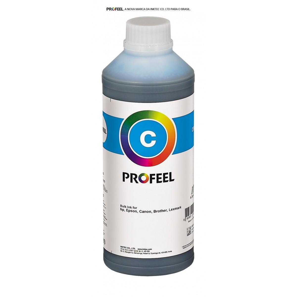 Tinta pigmentada InkTec Profeel modelo H8940-01LC | Frasco de 1 litro | Cor : Ciano