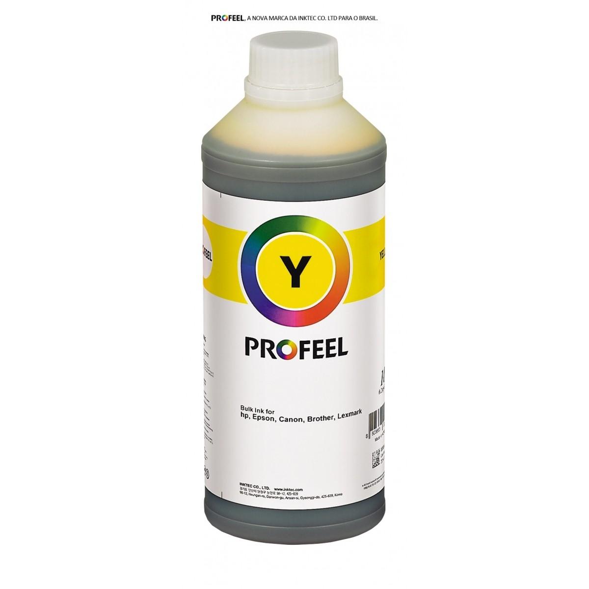Tinta pigmentada InkTec Profeel modelo H8940-01LY | Frasco de 1 litro | Cor : Amarela