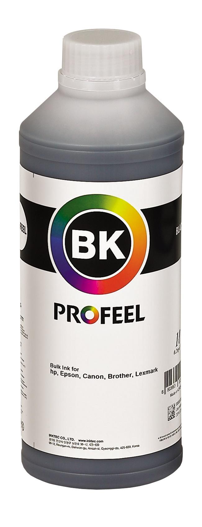 Tinta pigmentada InkTec Profeel para Epson   modelo E0015-01LB   Frasco de 1 litro   Cor : Preta