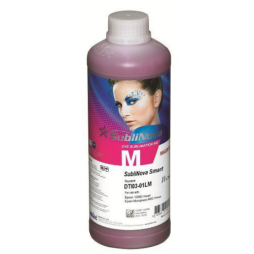Tinta sublimática InkTec para Epson | modelo DTI03-01LM | Frasco de 1 litro | Cor : Magenta