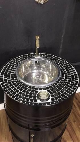 Lavatório Feito Com Tambor De Oleo 200l