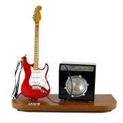 Miniatura Palco Guitarra Strato e Amplificador