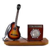 Miniatura Palco Violão Flat Elétrico e Amplificador